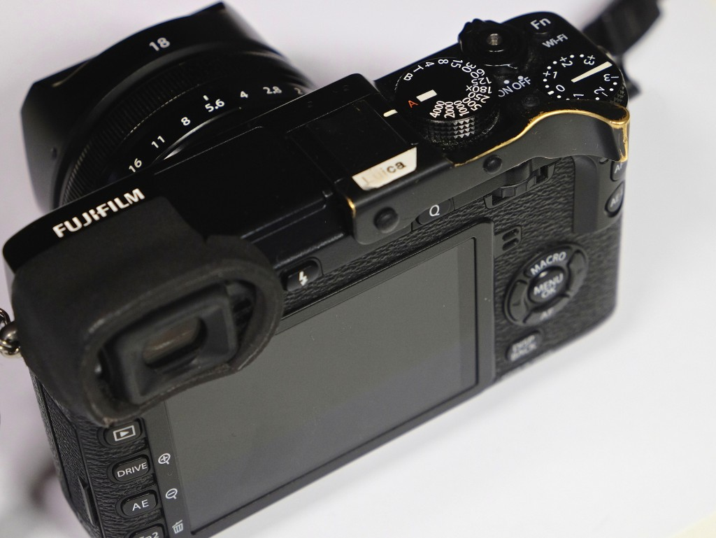 Fig. 4 Fujifilm X-E2, featured with additional markings